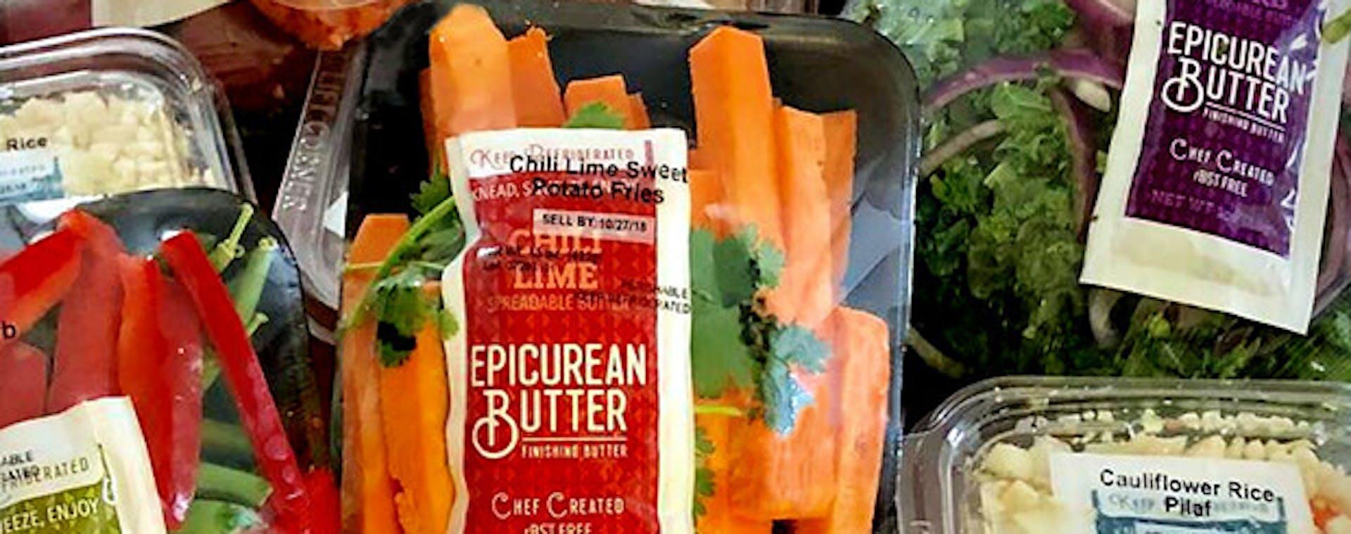 Epicurean Butter in Produce Kit's at Kroger