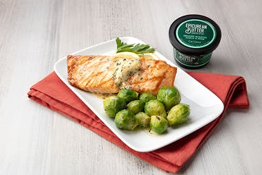 Salmon With 100% Organic Garlic & Herb Butter