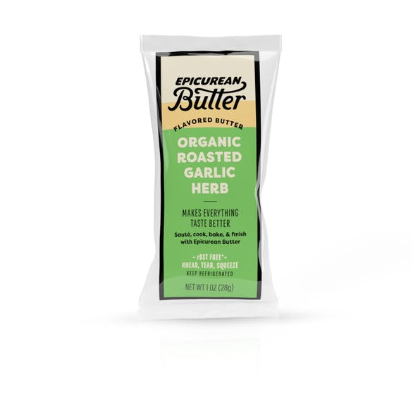 Organic Roasted Garlic Herb Butter 1oz Squeeze Pack