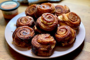 Sweet Rolls made with Cinnamon & Brown Sugar Butter