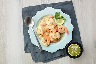 Shrimp Scampi with Epicurean Lemon Garlic Herb flavored butter