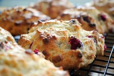 Cranberry Scones with Maple Syrup flavored butter