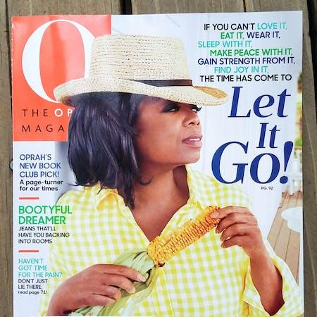 Cover picture of O Magazine