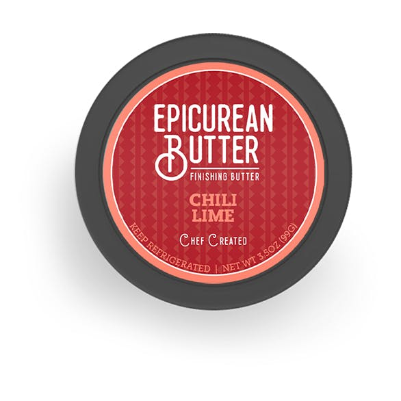 Chili Lime Butter top of tub view