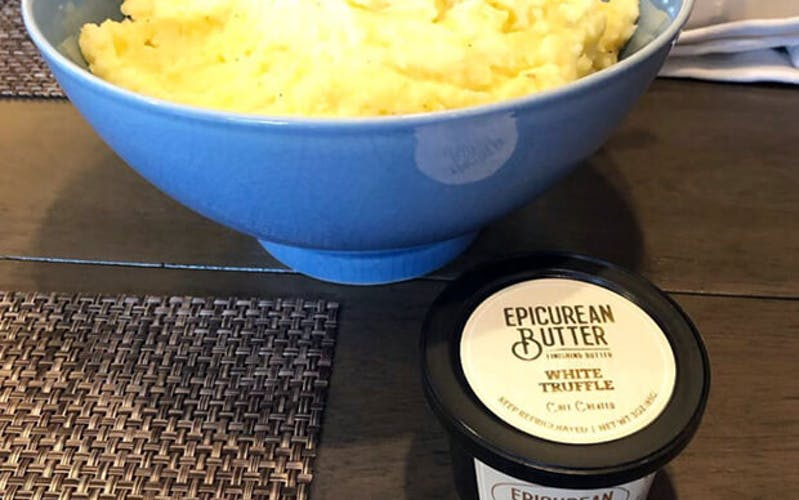 Mashed Potatoes with White Truffle Butter