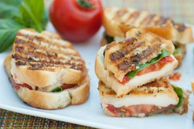 Caprese Sandwiches with Tuscan Herb flavored butter