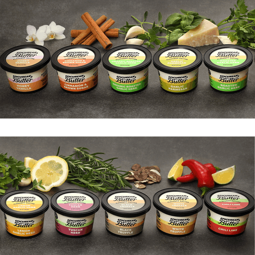 Epicurean Butter tubs and ingredients