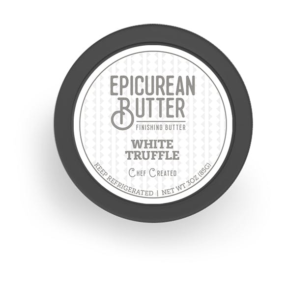 White Truffle Butter top of tub view