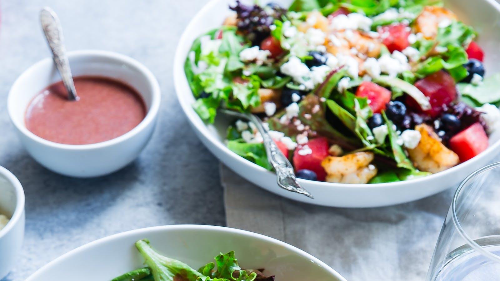 Salades healthy en couleurs