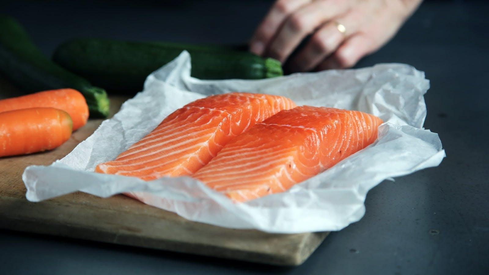 Pavés de saumon en couleurs
