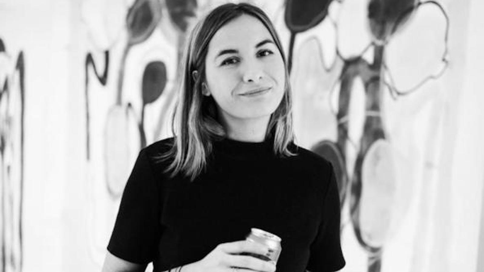 Portrait de Camille Cottier en noir et blanc