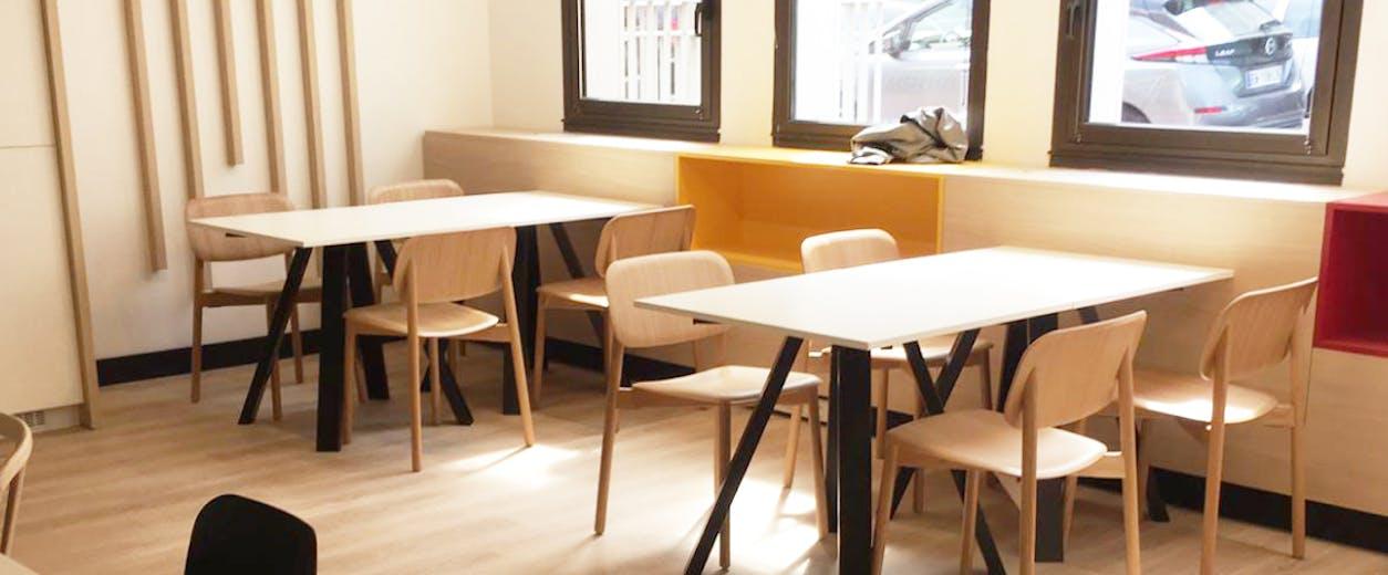 Création d'espaces de restauration et de co-working