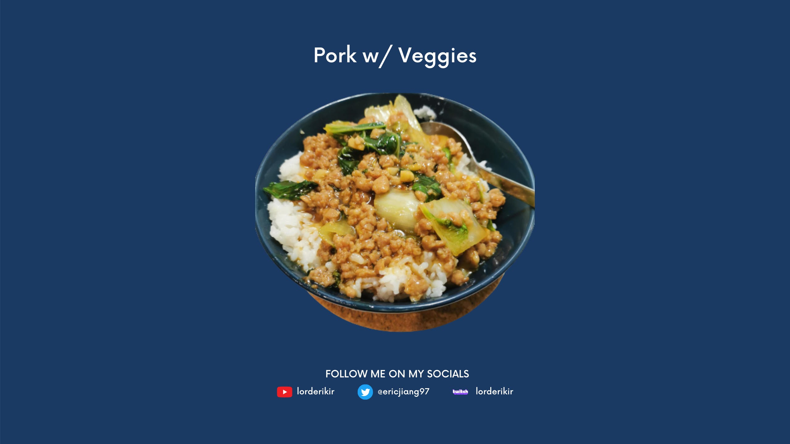 cover image for Recipe - Stir Fried Pork w/ Veggies