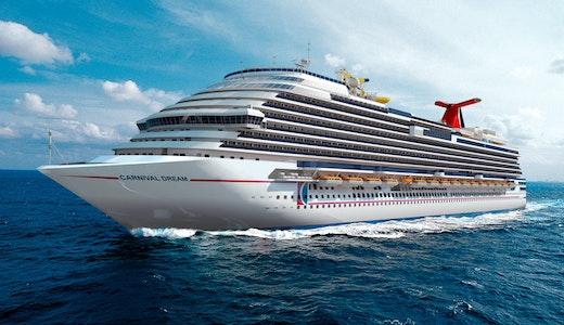 Carnival Cruise Lines fartyg Dream ute till havs.