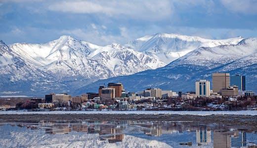 Ett vintrigt Anchorage.