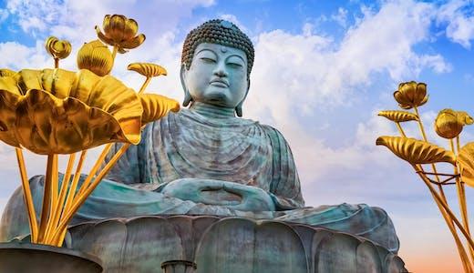 The Great Buddha i Kobe i Japan.