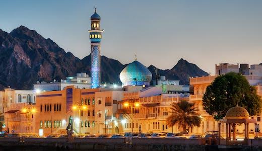 Muttrahdistriktet i Omans huvudstad Muskat.