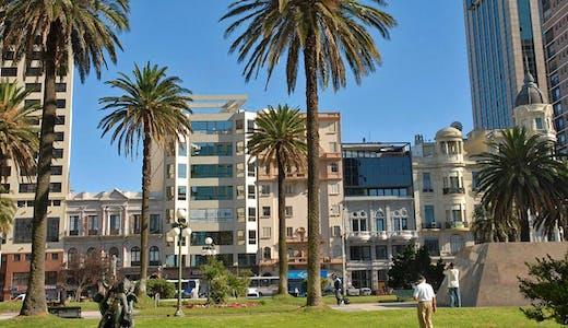Centrala delarna av Montevideo i Uruguay.