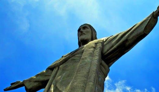Kristusstatyn, Christo Redentor, i Rio de Janeiro i Brasilien.
