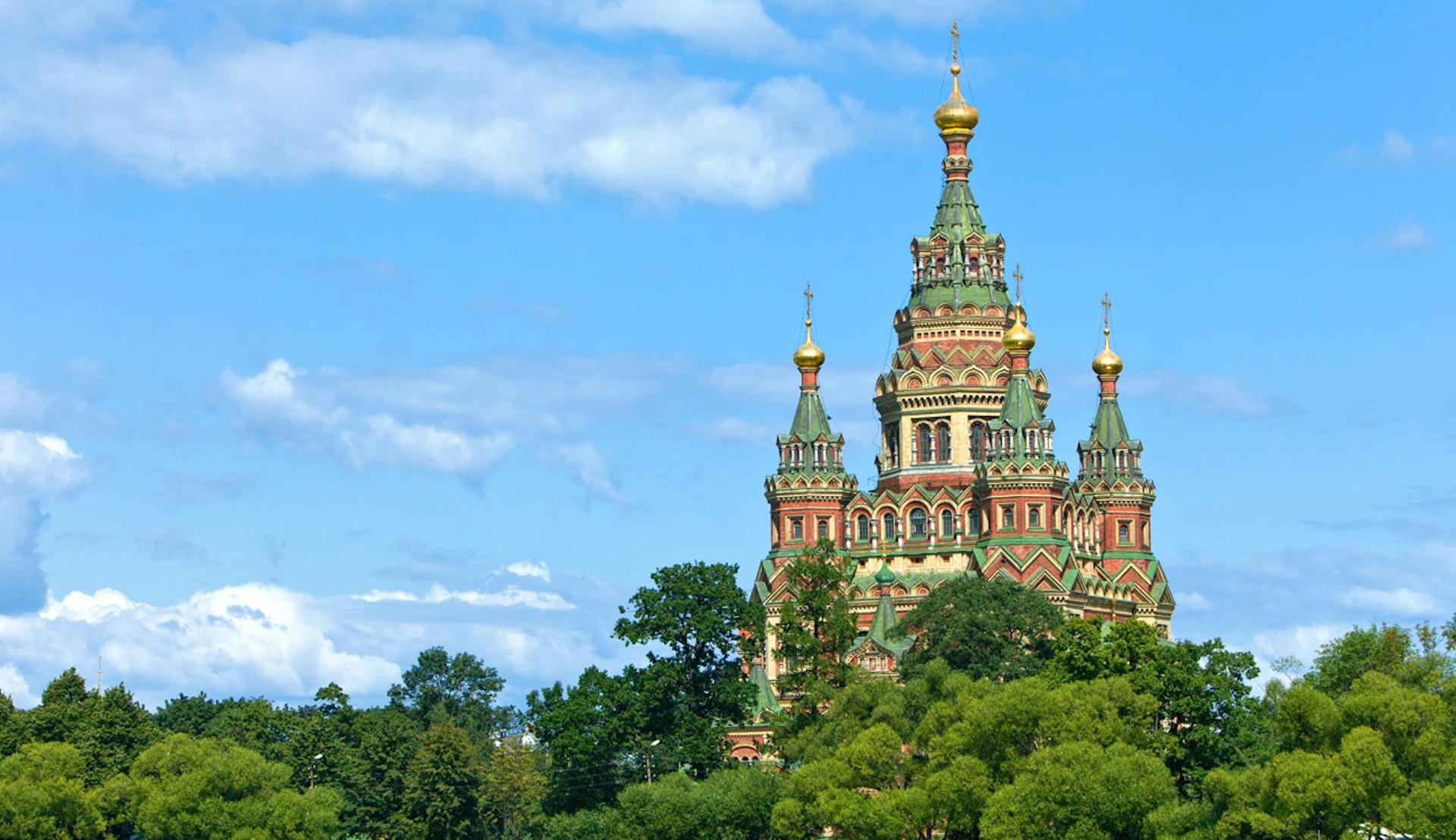 Uppståndelsekyrkan, Church on Spilled Blood, i St. Petersburg i Ryssland.