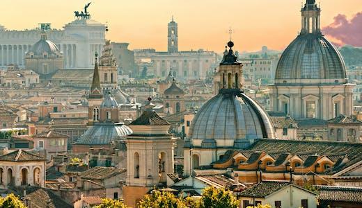 Vy över Roms takåsar.