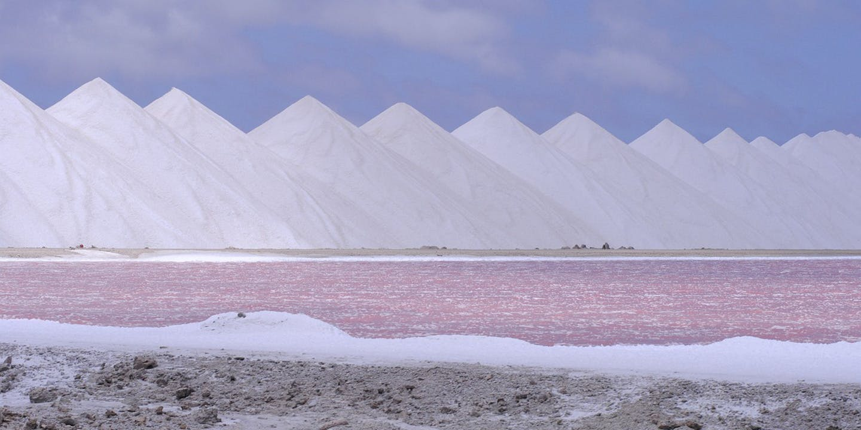 Saltpyramider på Bonaire.