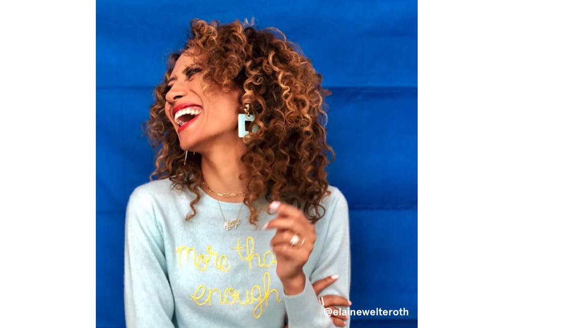 Image of elaine welteroth with fire snap auburn hair color as inspiration for winter