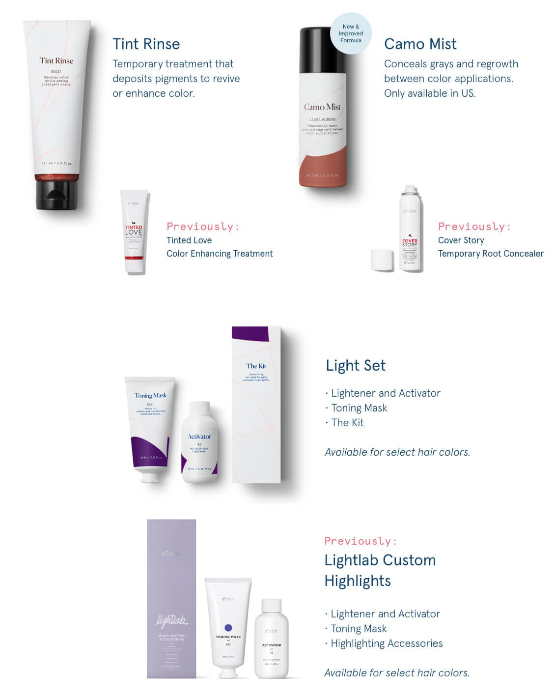 eSalon haircare products