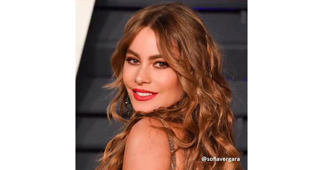 Sofia Vergara with warm highlights.