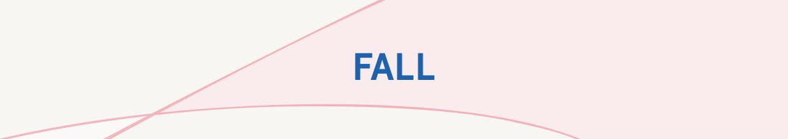 Image of patterned background with the word Fall in the center as the header