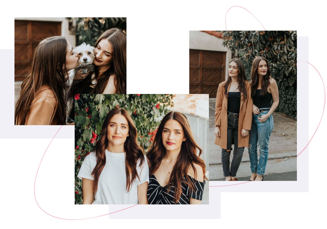 Image collage of garsow twins social media feed where they feature fashion, lifestyle and beauty posts