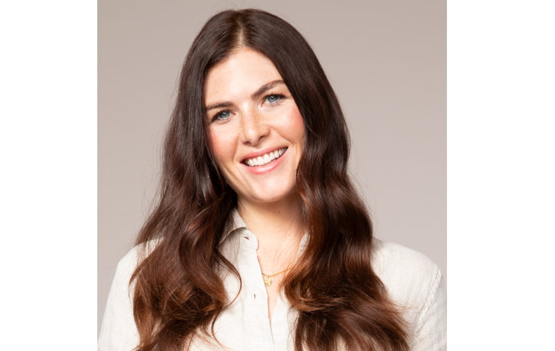 Image of eSalon client with natural-looking custom brunette hair color