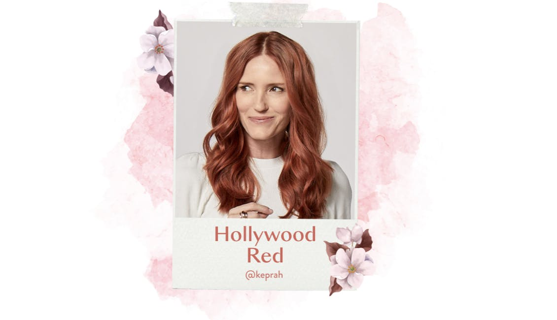 eSalon client with Hollywood Red custom red home hair color using our Color Set.