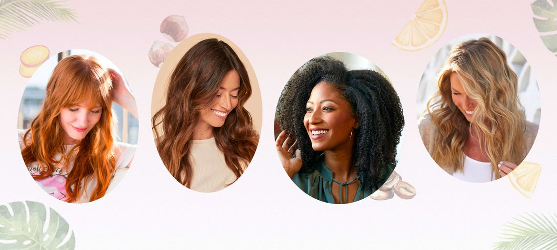 Four trending summer custom hair colors for any shade, eSalon's award-winning Color Set brings the salon experience home to you with Sparkling Ginger Whiskey, Creamsicle Mimosa, Espresso Martini, and Hazelnut Delight.