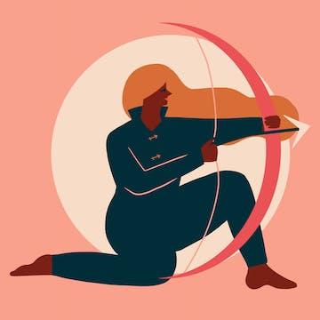 Sagittarius woman with eSalon custom hair color.