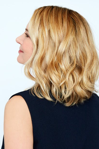 Image of esalon client Victoria's custom deep blonde hair color