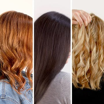 Image of three hair colors for three different women with different skin tones featured in esalon's color mastery article for winter and fall