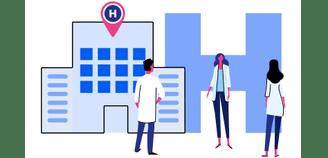 Ilustração de hospitais