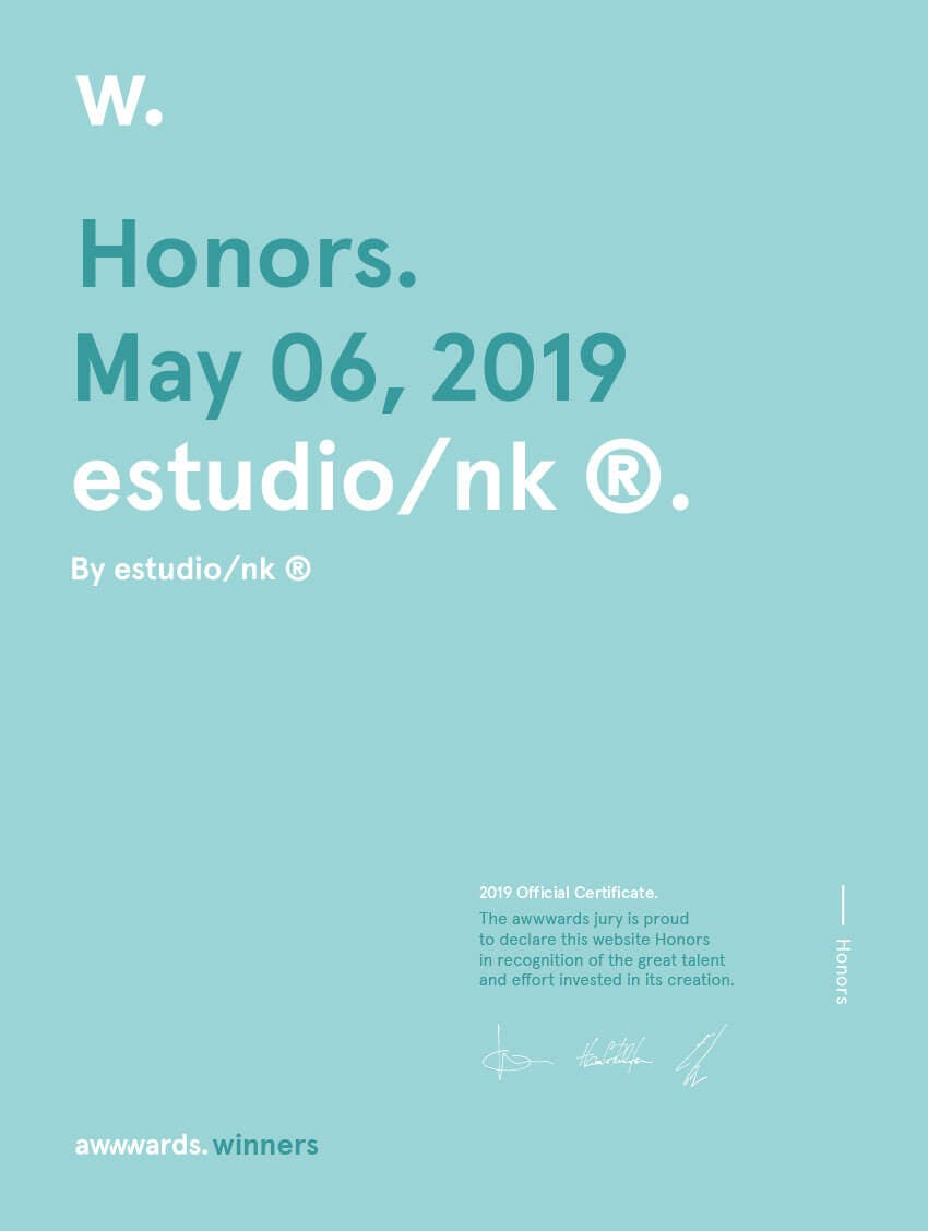 Honorable Mention Awwwards