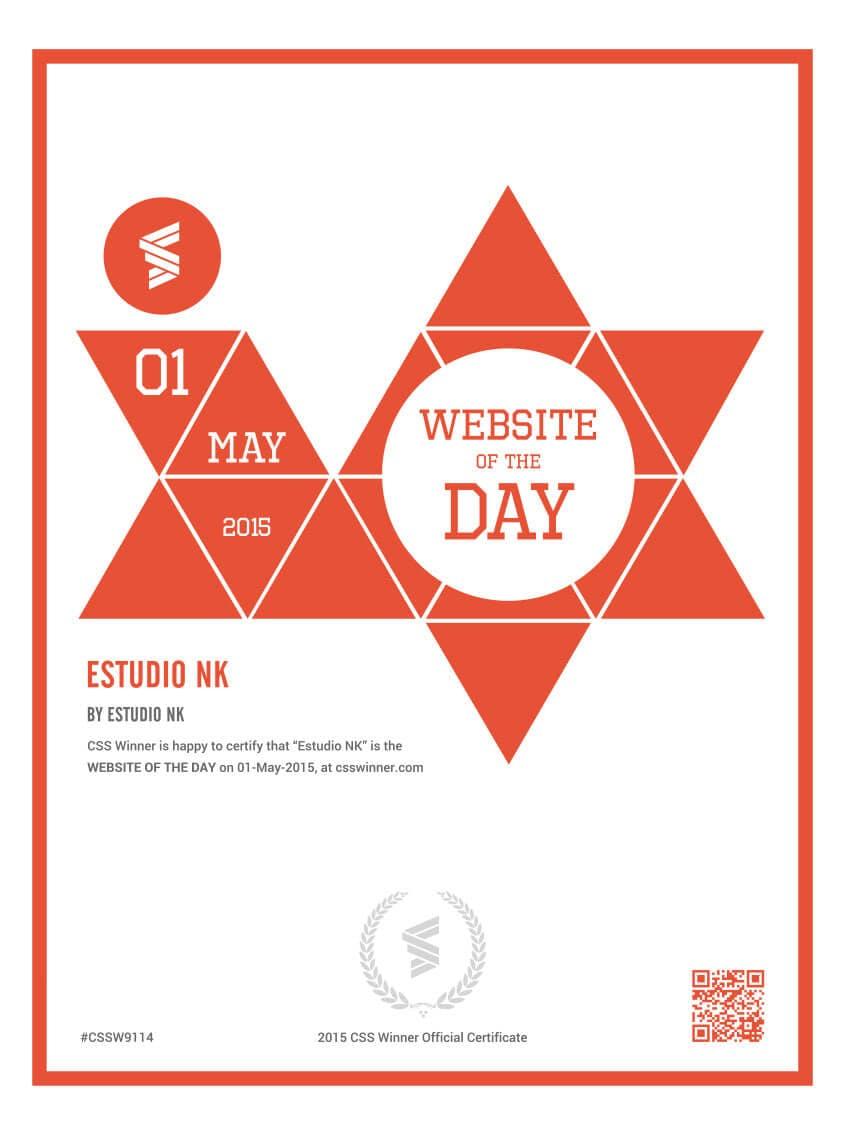 Website of the day CSS Winner