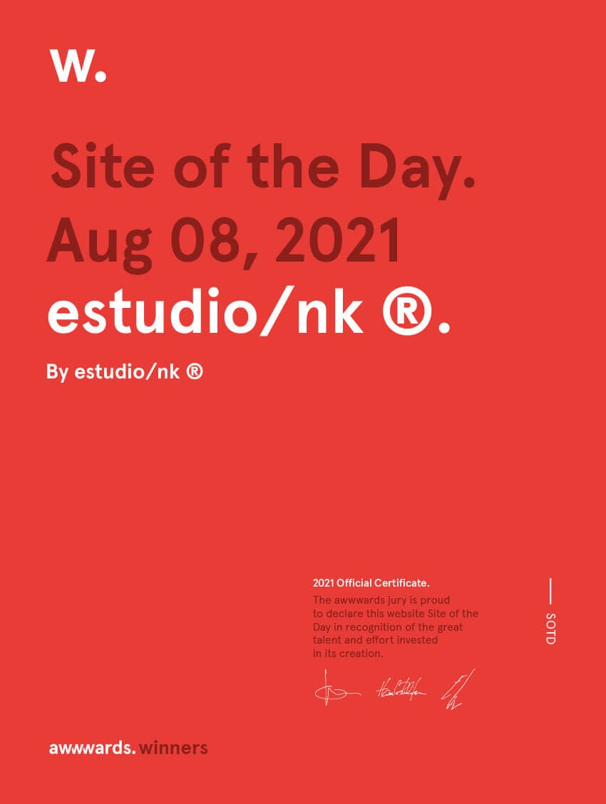 Site of the day Awwwards