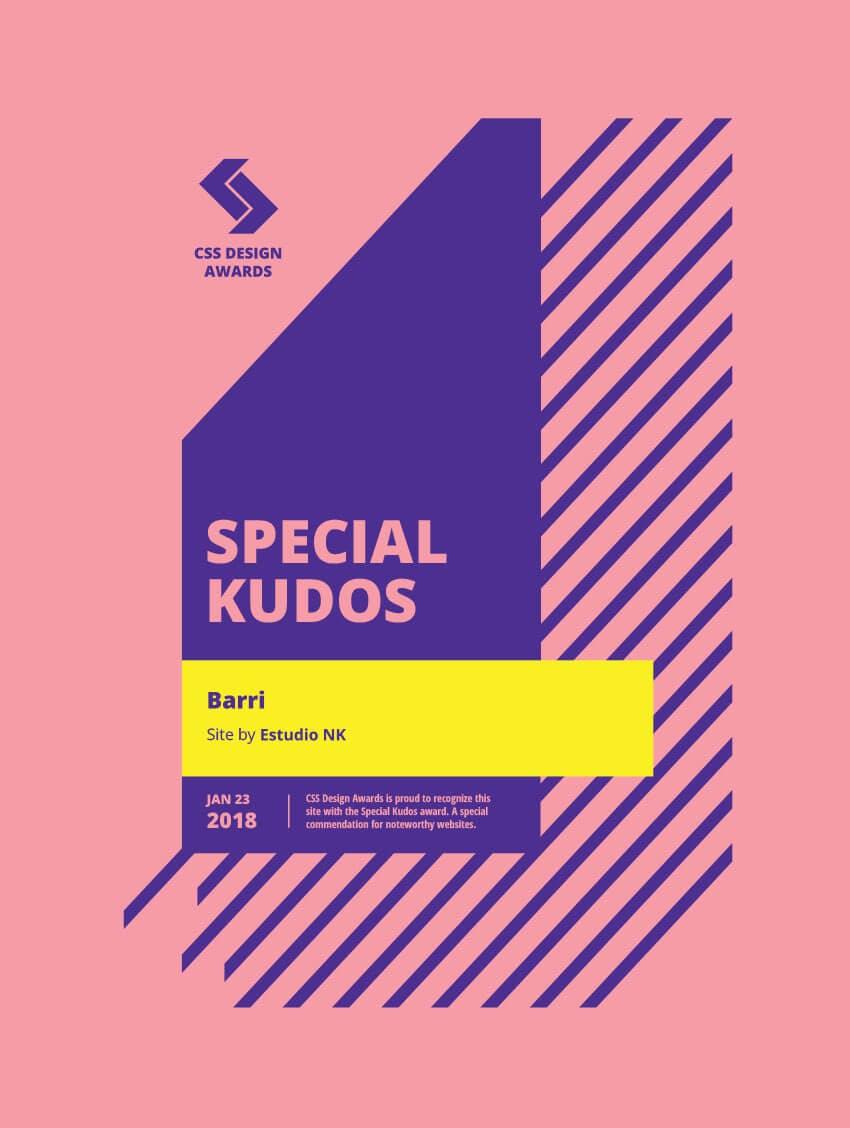 Special Kudos CSS Design Awards