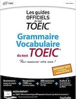 Couverture du livre Grammaire Vocabulaire du test TOEIC