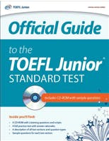 Couverture du livre Official Guide to the TOEFL Junior Standard test