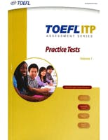 Couverture du livre TOEFL ITP Practice Tests - Volume 1