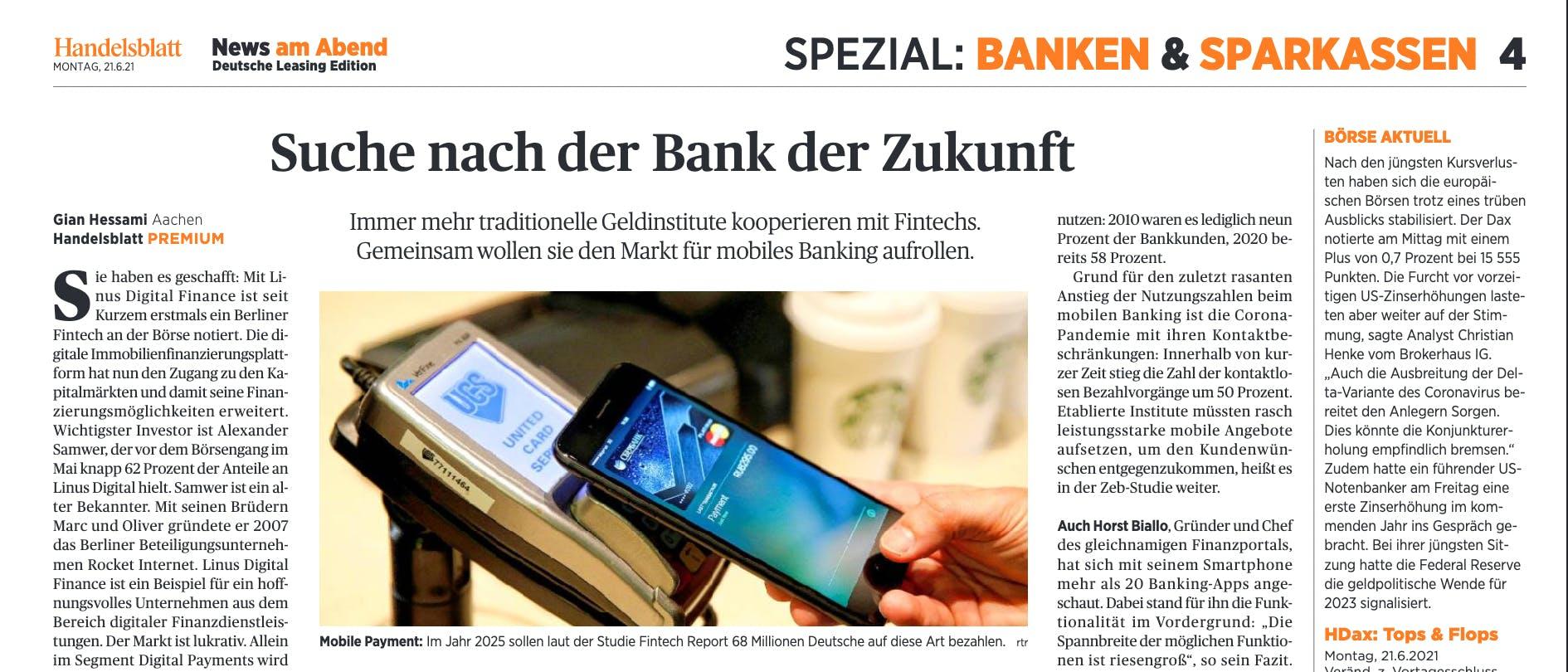 Suche nach der Bank der Zukunft