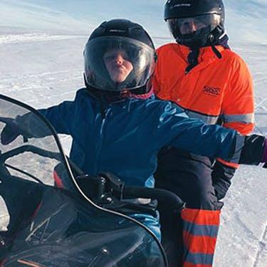 Fun on the glacier