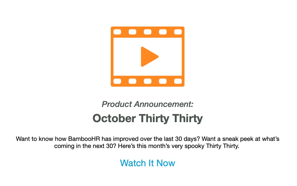BambooHR newsletter sample.