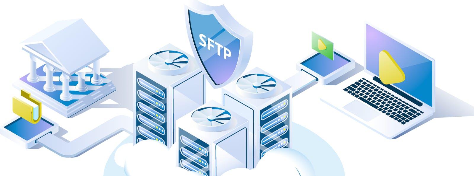 Interfacing with servers via SFTP hosting.