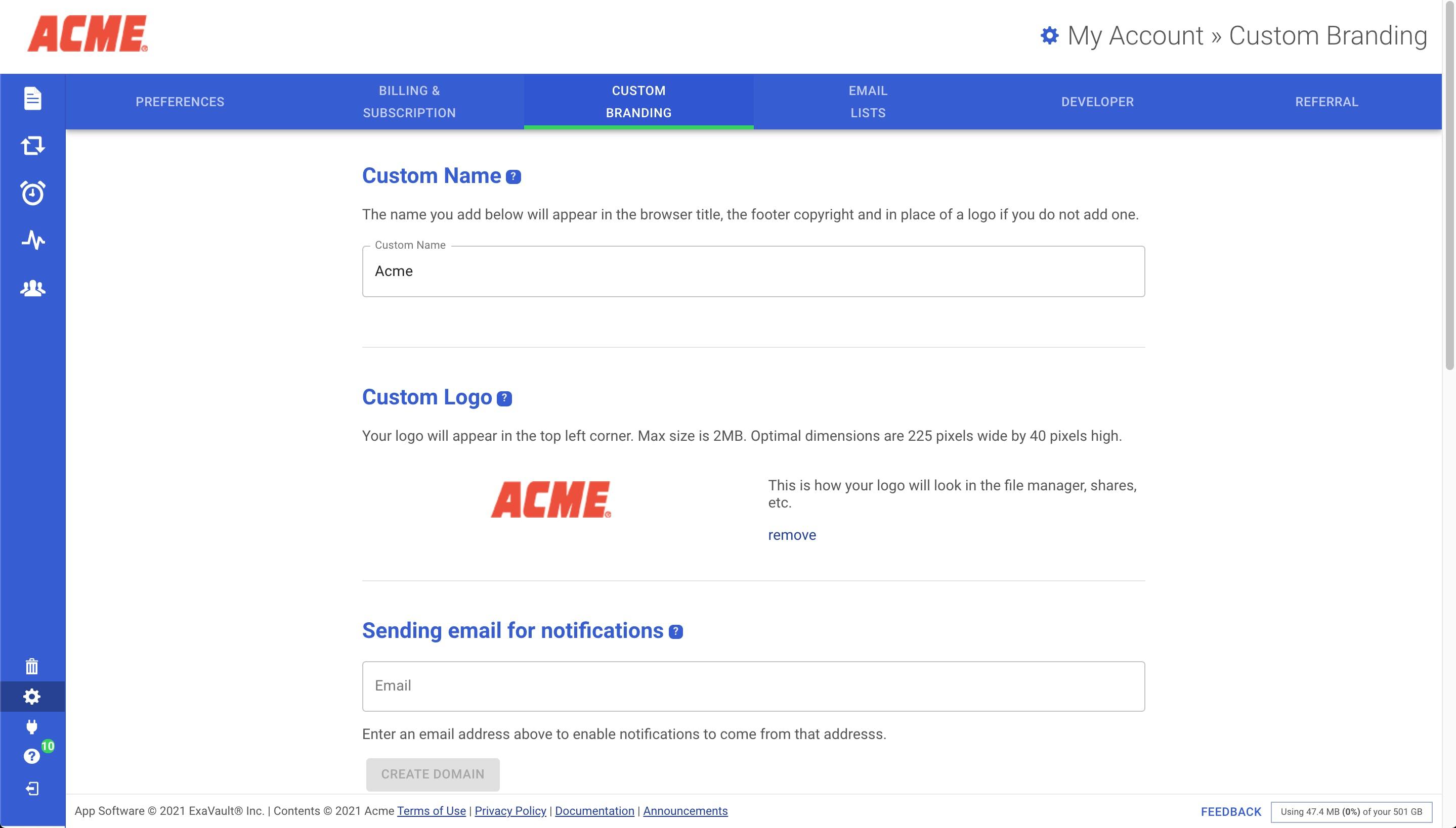 Customizing Name and Logo.